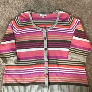 CJ Banks Sweaters - CJ banks striped cardigan sweater